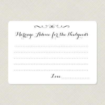 50 Marriage Advice Cards, Wedding Reception Game Cards, Wish - Reception Games