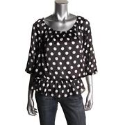 Black and White Polka Dot Shirt