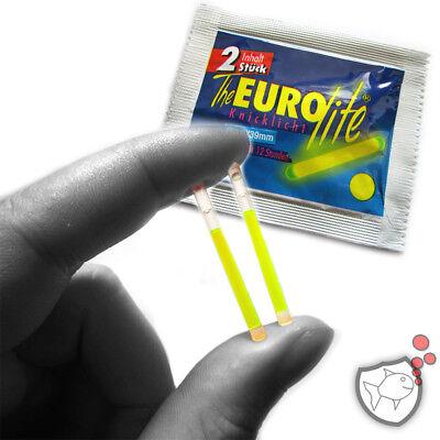 EUROlite MINI-Knicklicht 3x39mm gelb 10Stk Bissanzeiger für Posen Angelzubehör 3 X Licht