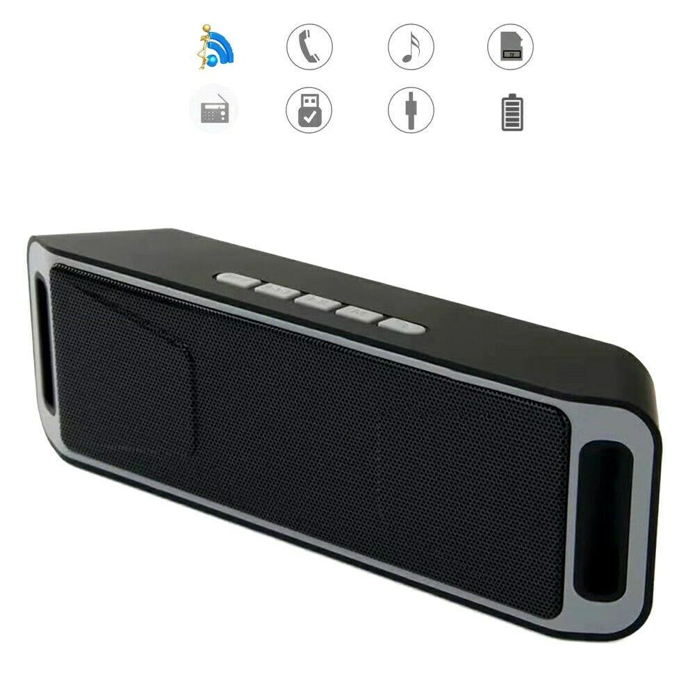 Bluetooth Wireless Speaker Portable Rechargeable+Call,FM Rad