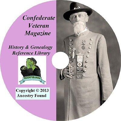 Confederate Veteran Magazine - Civil War History & Genealogy - 372 Issues on DVD