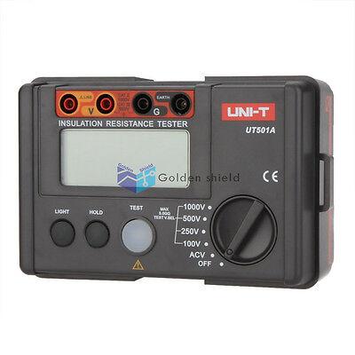 Uni-t Ut501a 1000v Insulation Resistance Meter Ground Tester Megohmmeter Voltmet