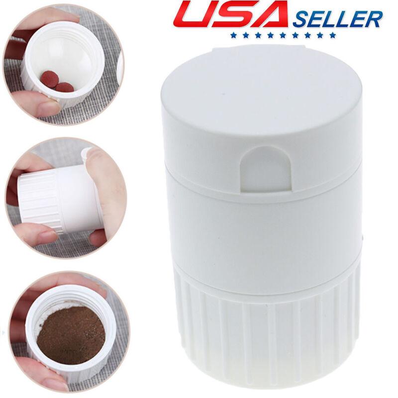 Pill Pulverizer Cutter Powder Crusher Grinder splitter Medicine Storage Box Fast