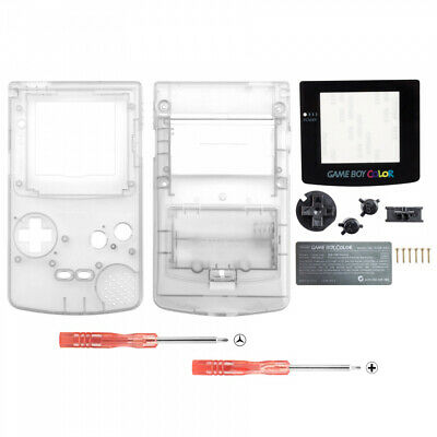 Transparent Clear Full Housing Shell Button Sets for Nintendo Game Boy Color GBC