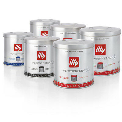 Illy Iperespresso 126 Coffee Capsules - Mixed Box (Classic, Dark Roast, Lungo)