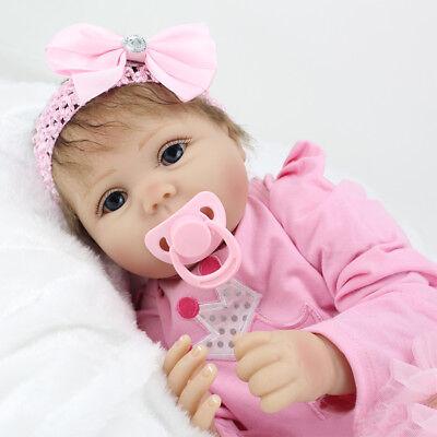 22'' Realistic Handmade Reborn Baby Doll Newborn Silicone Vinyl Girl Dolls Toys