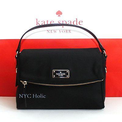 New Kate Spade Blake Avenue Miri Top Handle Crossbody Shoulder Black WKRU4216