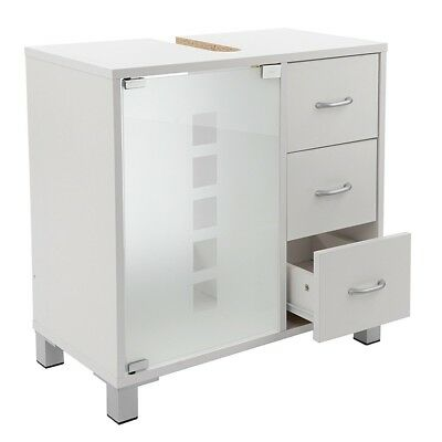 Waschtischunterschrank mit 3 Schubladen in weiß Schrank Waschbeckenunterschrank