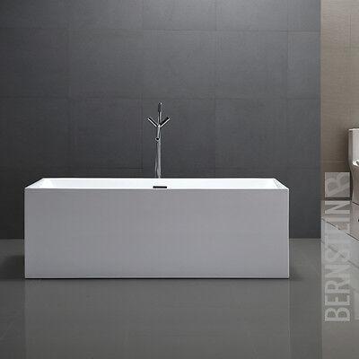Freistehende Design Badewanne Wanne Acryl COMFORT weiß - 170x80x60cm