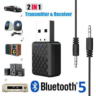 Bluetooth 5.0 Transmitter & Receiver A2DP Audio 3,5mm-Klinkenstecker-Aux-Adapter Bluetooth