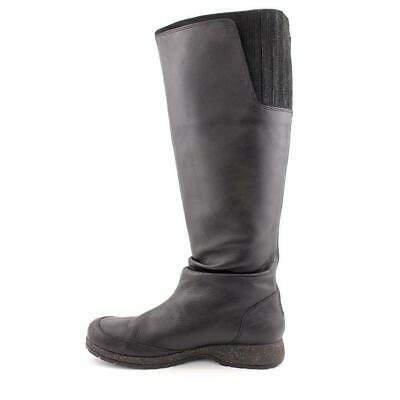 Leather Boots For Girls (NEW TEVA BLACK LEATHER WATERPROOF TALL KNEE BOOTS GIRLS OR WOMENS 5)