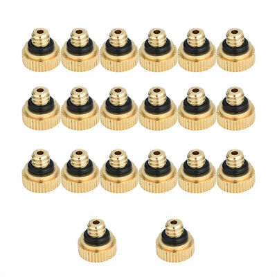 20pcs/set Brass Misting Nozzles Water Mister Sprinkle For Cooling System DJ8X