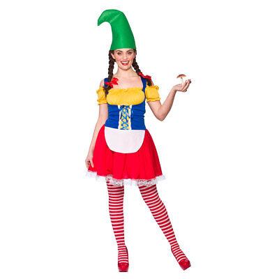CUTE GARDEN GNOME FANCY DRESS COSTUME WICKED PIXIE FAIRYTALE - Garden Gnome Costume Adults