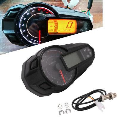 Multifunction Motorcycle Digital Gauge Speedo Tacho Odo Meter Kmh Indicator Well