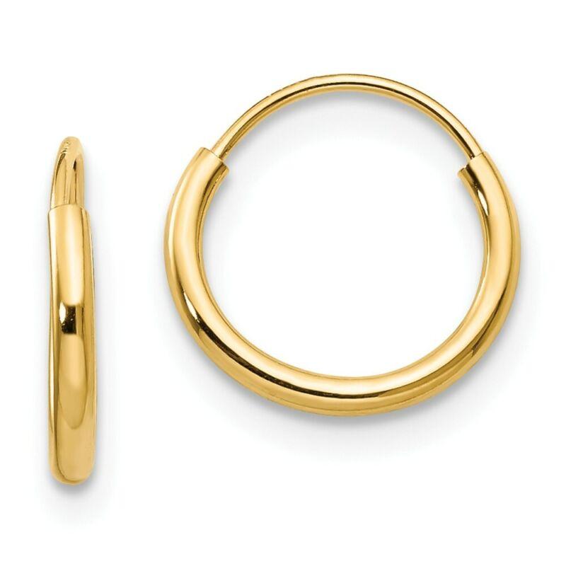 8 mm 14K Yellow Gold Madi K Endless Hoop Earrings, Pair