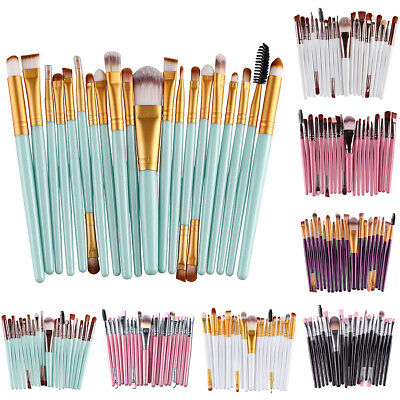 20pcs Pro Makeup Brushes Set Powder Eyeliner Eyeshadow Found