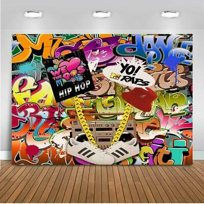 Mehofoto 90s Themed Backdrop Graffiti Hip Pop 90's Party Background 7x5ft - 90s Themed Party