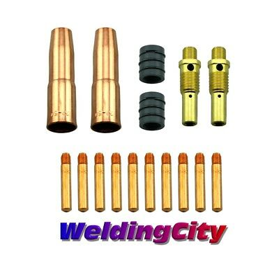 Mig Welding Gun Kit .035 For Lincoln 200250 Tweco 2 Tip-diffuser-nozzle M7