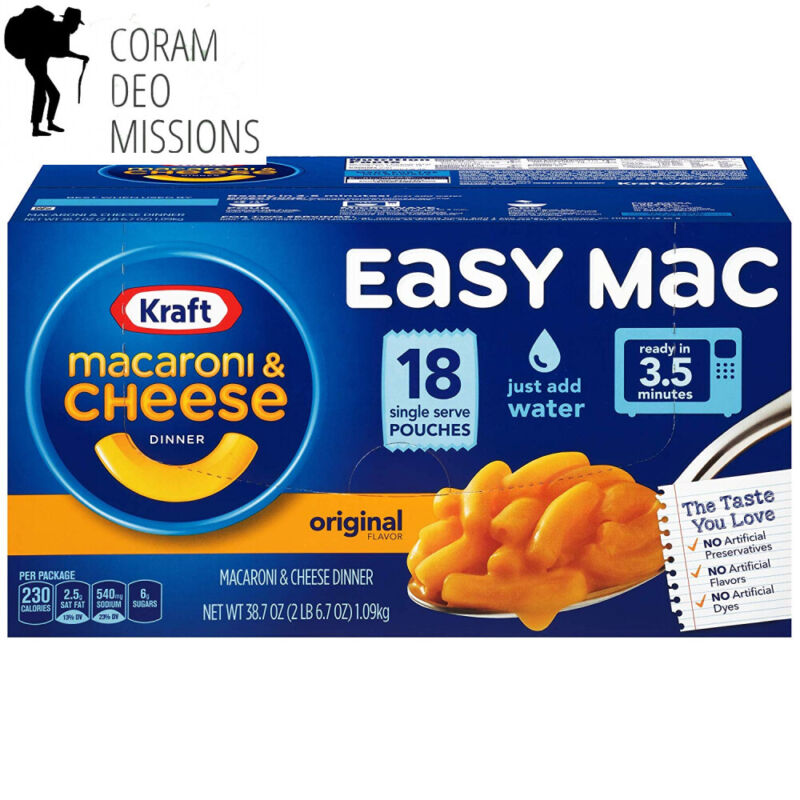 Kraft Easy Mac Macaroni and Cheese Dinner, 18 Microwaveable Single Serve Packets