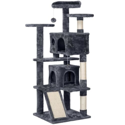 "55"" Cat Tree Tower Condo Furniture Scratching Scratch Pet Kitty Play House"
