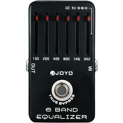 - Joyo JF-11 6-Band Equalizer Professional Guitar EQ Effects Pedal w/ True Bypass