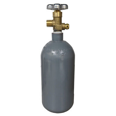 2.5 Lb Steel Co2 Cylinder Reconditioned Fresh Hydro Cga320 Valve - Ships Free