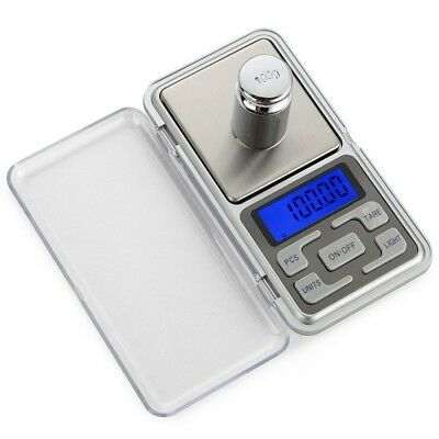 Silver Portable Mini (Digital Scales Mini Silver Portable Electronic Jewelry Pocket Gram Weight Scale)