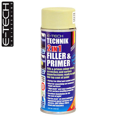 E-Tech Technik 2-in-1 Filler & Primer Car Body Repair Paint Undercoat 400ml Can