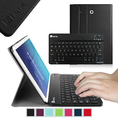 Bluetooth Keyboard Slim Pu Leather Case Stand Cover For Samsung Galaxy Tab E 9.6