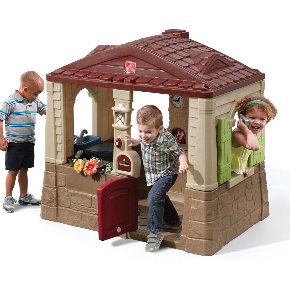 Toddlers Kids Step2 Neat & Tidy Cottage Unisex Playhouse Chi