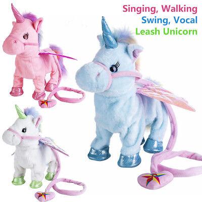 Magic Walking & Singing Unicorn Plush Toy Doll Children Kids Birthday Xmas Gifts](Birthday Sings)