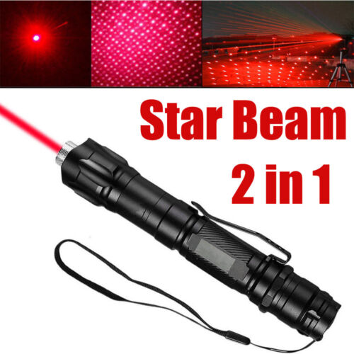 60Miles 650nm Star Red Laser Pointer Pen 18650 Rechargeable Lazer Visible Beam