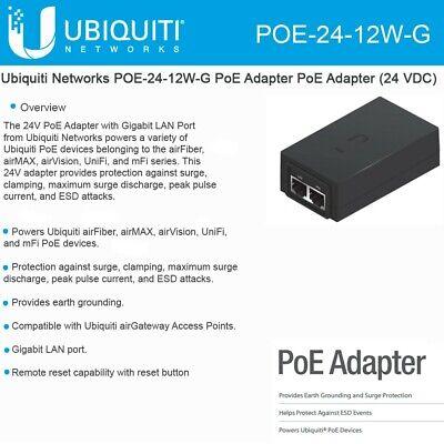 NEM 5-15 Ubiquiti Networks PoE Adapter  24V 1A