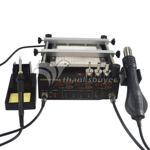Hot Air Heat Gun BGA Rework Solder Station+Electric Soldering Iron+Preheating