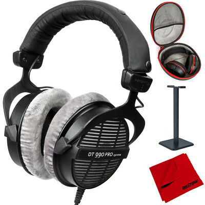 BeyerDynamic DT-990-Pro-250 Professional Open Headphones 250 Ohms + Case Bundle