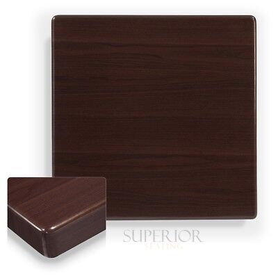 New 24x24 Veneer Butcher Block Dark Mahogany Restaurant Tabletop Furniture