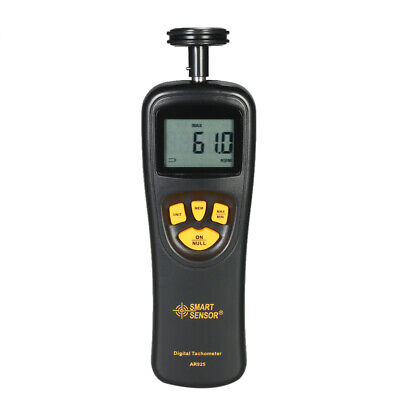 Handheld Contact Digital LCD Tachometer Tach Meter 19,999RPM Measuring Tool Z5R6