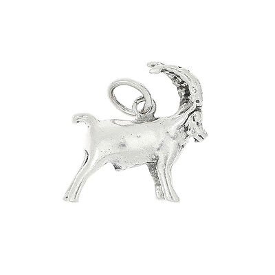 STERLING SILVER DEER LONG HORN SHEEP STEINBOCK CHARM OR PENDANT