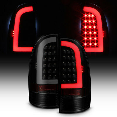 For Black Smoked 2005-2015 Toyota Tacoma LED Tube Tail Lights Lamps Left+Right