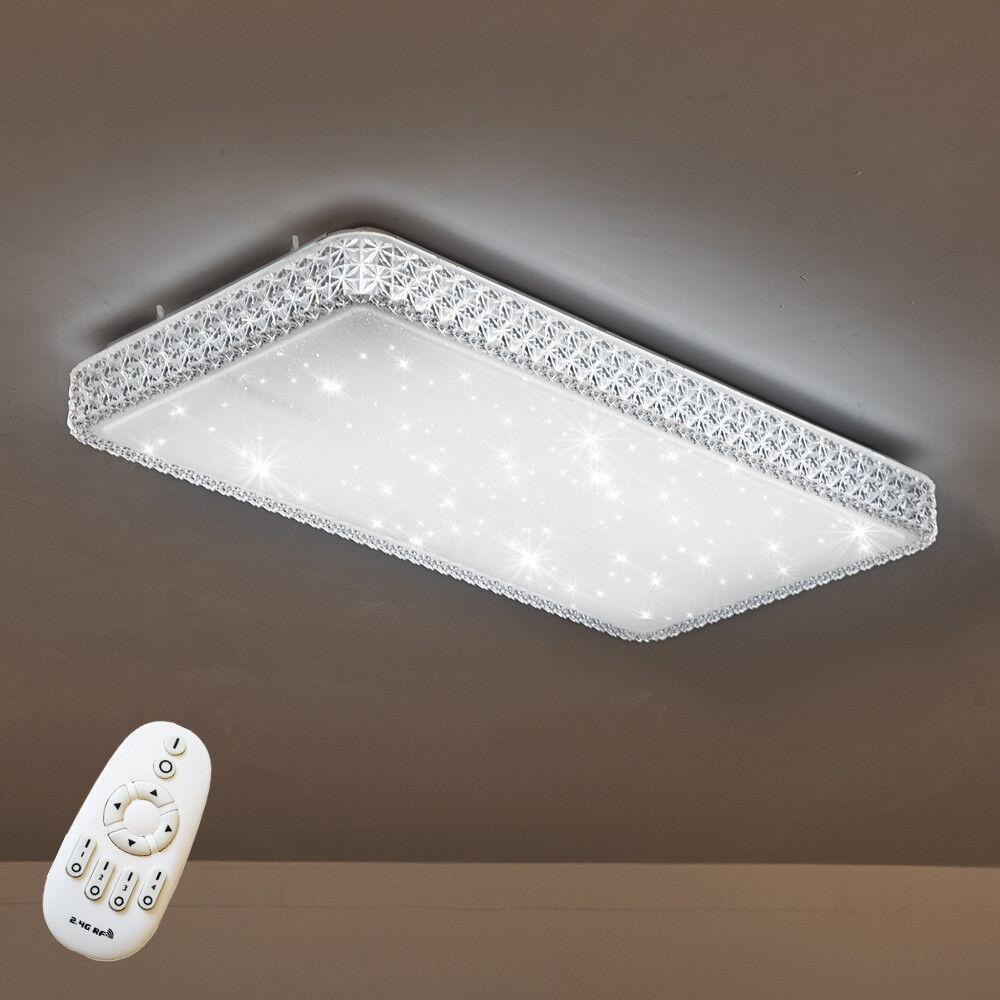 48W LED Sterne Deckenlampe Deckenleuchte Dimmbar Kristall Wandlampe  Schlafzimmer