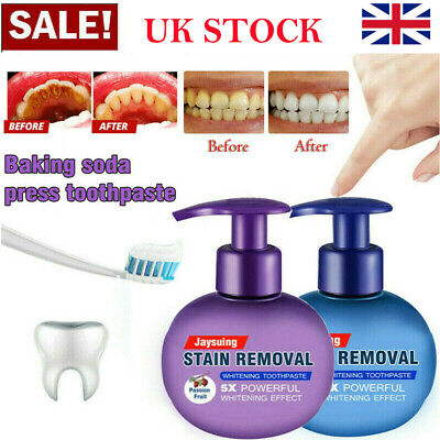 Natural Intensive Stain Remover Whitening Toothpaste Fight Bleeding Fresh UK