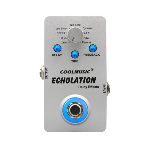 COOLMUSIC Electric Guitar Digital Delay Effect Pedal with 9 Delay Effects