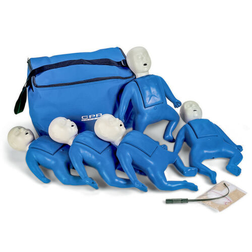 CPR Prompt 5 Pack Infant CPR AED Training Manikins - Blue