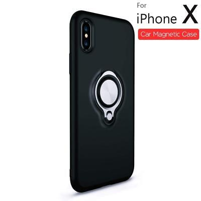 IPhone X Case With Ring, the Best New Magnetic Car Holder Case Anti-Fingerprint