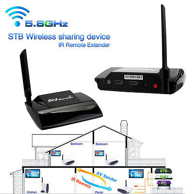 5.8GHz Wireless 300M HDMI 1080P in AV Sender TV Transmitter Receiver Audio Video