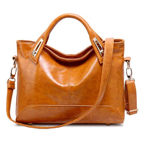 Oil Wax Leather Tote Purse Leather Satchel Handbag Messenger