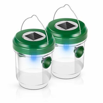 Cypropid Bug Trap Solar Powered Ultraviolet LED Light Waterproof (2 Pack)