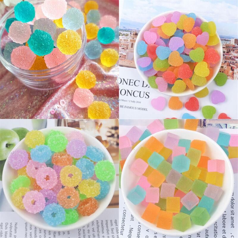 20 pcs DIY Scrapbooking Plastic Jelly Drops Craft Cabochons Slime Charms Random