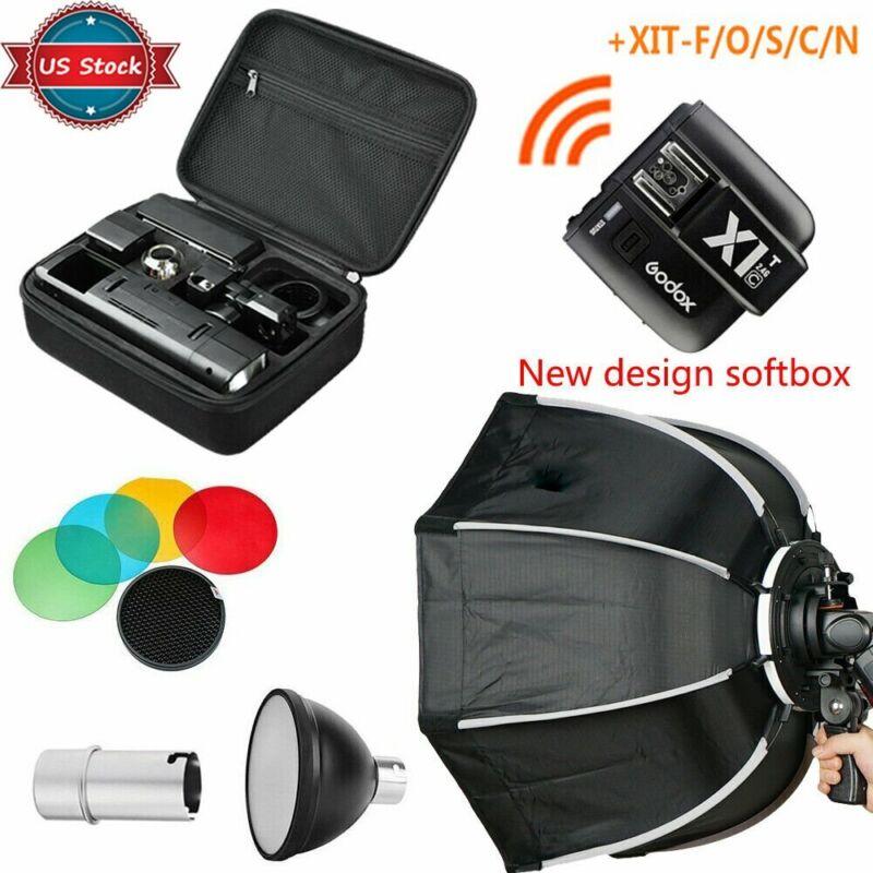 US Godox 2.4 TTL HSS AD200 Flash+New Design Softbox+X1T-N/S/F/C/O Transmitter
