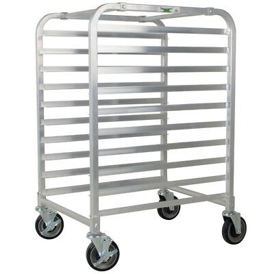 Regency 10 Pan End Load Half Height Bun/Sheet Pan Rack - Unassembled USA (End Load Bun Pan Rack)